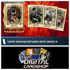 Topps Marvel Collect VINTAGE Series 3 Full Set of 10 Cards Award Ready