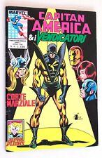 CAPITAN AMERICA & I VENDICATORI n. 4 CORTE MARZIALE Star Comics Marvel 1990