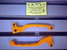 Coppia leve freno Dx. e Sx. (colore Giallo) Ciclomotore Piaggio Superbravo