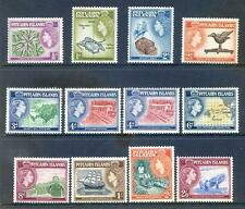Pitcarn Islands 1957-63 Definitives complete to 2s6d mint hinged (2016/10/10#04)