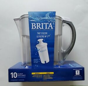 Brita Large 10 Cup Water Filter Pitcher with 1 Standard Filter, BPA Free Black