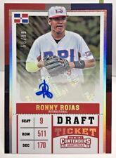 Ronny Rojas 2017 Panini Contenders Draft Picks Ticket Autograph Auto #'d 58/99