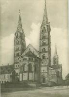 Alte Ansichtskarte Postkarte Bamberg Dom Ostbau s/w