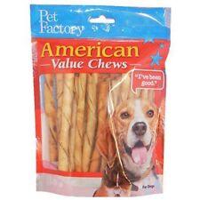 PET FACTORY 28754 American Beef-Hide Premium Chicken Flavored Twist Sticks