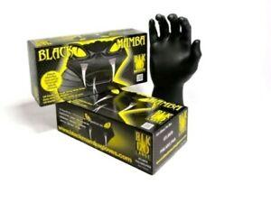 Black Mamba Nitrile Disposable Gloves - Box 100 singles ,  Size Large