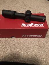 Trijicon AccuPower 1-4x24 Red Illuminated Duplex Rifle Scope