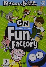 CARTOON NETWORK-Fun Factory 19 giochi PC e 6 cartoni Sigillato Nuovo di zecca e