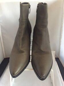 WP101D Mint Velvet Elyse Grey Stud Detail Ankle Boots, Size UK 6 /EU 39