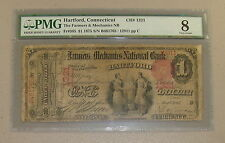 1875 $1 One Dollar The Farmers & Mechanics National Bank Note Fr-385