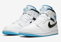 "In Hand Nike Air Jordan 1 Mid SE "" Laser Blue"" 554724-141 Mens Free Shipping"
