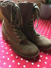 Brown suede Lace Up boots (39) SIZE 6