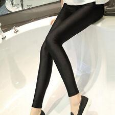 New Breathable Shiny Solid Black Leggings Skinny pants Women Trousers S-XXL
