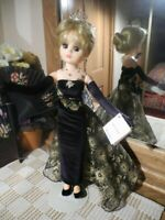 "2000 Madame Alexander IVANA TRUMP COUTURE Doll Black Velvet Gown Tiara TAG 17.5"""
