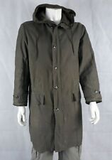 More details for genuine surplus german army grey long length parka faux fur lining thermal