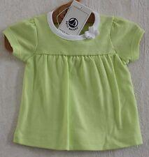 Neuf : Tee-shirt PETIT BATEAU 3 mois vert anis petit noeud pour bébé fille