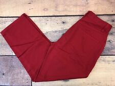 NEW LL BEAN Red Dungaree Casual Pants Women's Size 4 Petite (26 x 28)   (LLW117)