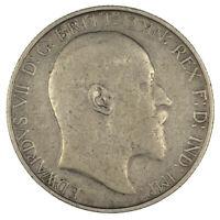 Edward VII 1908 Florin Near Very Fine