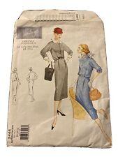 VOGUE Vintage Pattern #2445 1956 Dress Size 18-20-22 UNCUT