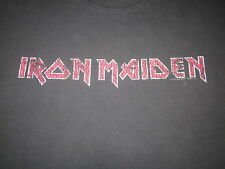 Iron Maiden Logo Tee Shirt Heavy Wear Soft Distressed Metal Tee Shirt Large