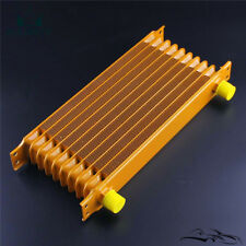 10 Row AN10 Engine 248mm Aluminum Oil Cooler  Radiator Mocal Style gold