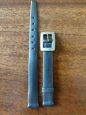 band- stamped buckle-color silver/lead Vintage Tissot ladies 10mm leatherwatch