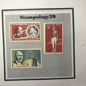 US Airmail-#C66, C68 C69-(1963-1967)-MH-Free Shipping