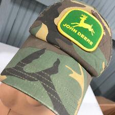 John Deere Camo Mesh Snapback Baseball Cap Hat