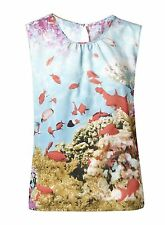 PRETTY AQUARIUM/FISH TANK TUNIC/TOP BRAND NEW..SIZE'S 6-8-..SUMMER/HOLIDAY