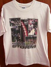 Tampa Bay Storm lrg T shirt arena football Afl Pittsburgh Gladiators tee 1999