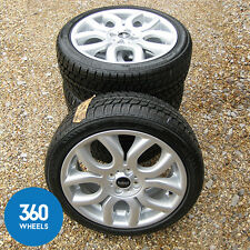 "NEW GENUINE MINI 17"" FLAME SPOKE COOPER S 97 WINTER ALLOY WHEELS TYRE PACKAGE"