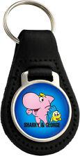 Sharky & George Quality Black Leather Keyring