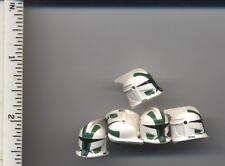 Star Wars LEGO x5 White Minifig, Headgear Helmet SW Clone Trooper Commander Gree