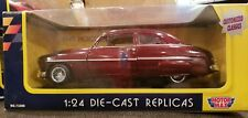 Motor Max 1/24 Scale Die Cast Replicas 1949 Mercury Red Wine Color