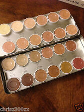 Kryolan Dermacolor Camouflage Creme - 24 Color SHOW Makeup Palette Kit 71008 NEW