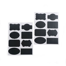 16X/32pcs Chalkboard Blackboard Chalk Board Stickers Craft Kitchen Jar Labels KQ