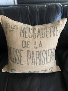 RESTORATION HARDWARE Sofa Throw Pillow Cover French Jute Grain    22x22