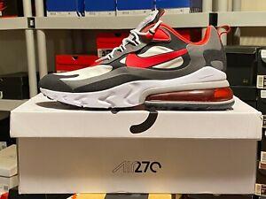 Nike Air Max 270 React CI3866-002 Black/University Red-White Mens Running Sz 14
