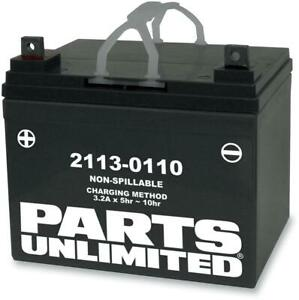 Parts Unlimited AGM Maintenance-Free Battery YTX14-BS RTX14-BS *