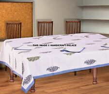 Indian Cotton Rectangular Tablecloth Block Print Dining Table Cover With Napkins