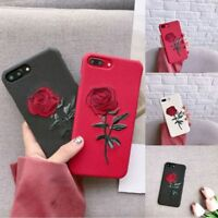 Creative Women Girls Embroidery Rose Hard Case Cover For iPhone 6s Plus 7 7Plus