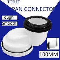 100mm Toilette Abflus WC Anschlussstutzen Anschluss Rohr Toilettenrohr PVC