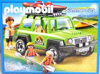 Playmobil 6889 Camp-Geländewagen Jeep Vater Junge Mädchen 2 Kinder-Kajak NEU