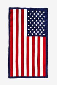 100% Silk American Flag Patriotic Stars & Stripes Handkerchief Pocket Square