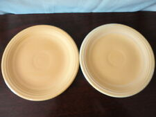 FiestaWare Salad Plate (S) Saucer USA Fiesta Yellow 7-1/2 in (2)Vintage