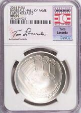 2014-P $1 Tom Lasorda Baseball Hall of Fame NGC MS69 Early Releases