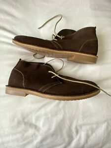 Mens Desert Boots Brown Suede Size 9