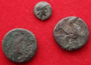 3 UNIDENTIFIED GREEK COINS