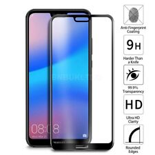 For Huawei P20 lite Tempered Glass Screen Protector Full Face Curved Coverage