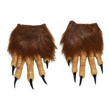 Hairy Werewolf Monster Dark World Costume Halloween Accessory Gloves Claw Hands