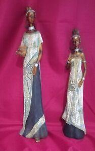 African Mother & Daughter Sculpture Figurines